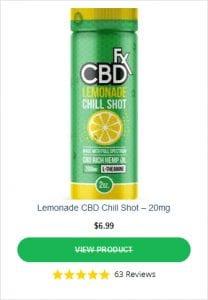 CBDFX Chill Shots Lemonade