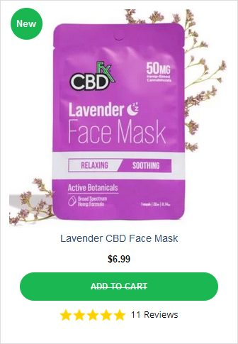 CBDFX LavenderFace Mask