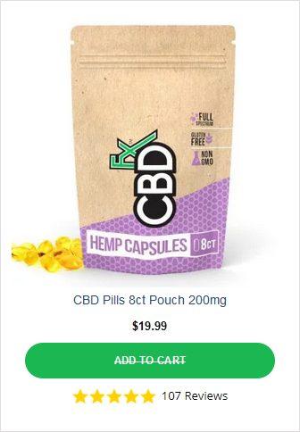 CBDFX Pills 200mg Pouch