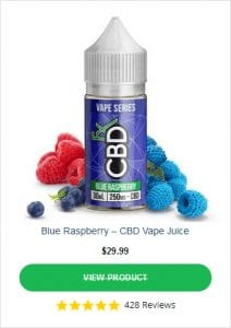 CBDFX Vape Blue Raspberry