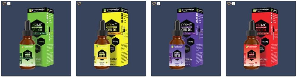 Gren Garden Gold Prime CBD Oils