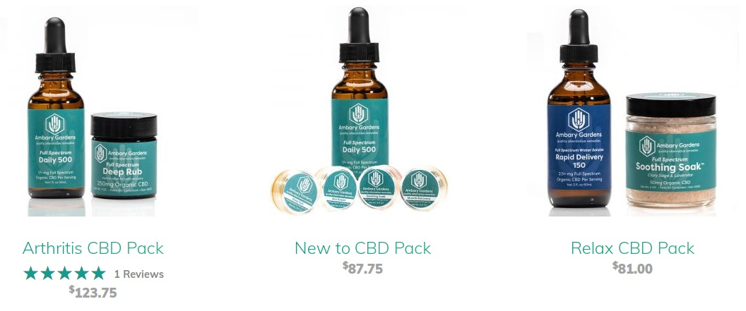 Ambery Gardens CBD Packs