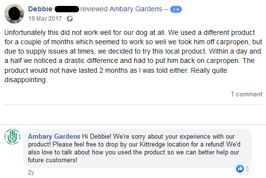 Ambery Gardens Facebook reviews 2