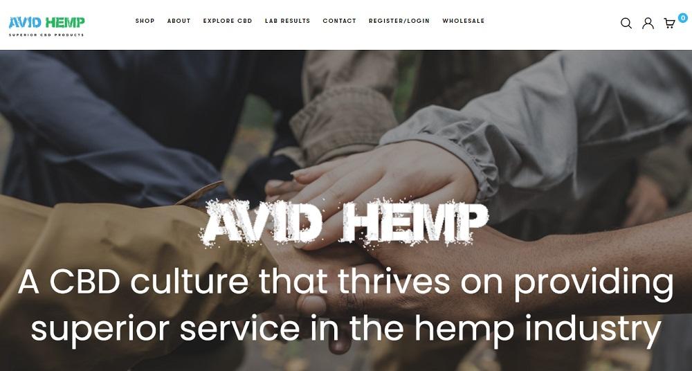 Avid Hemp Homepage