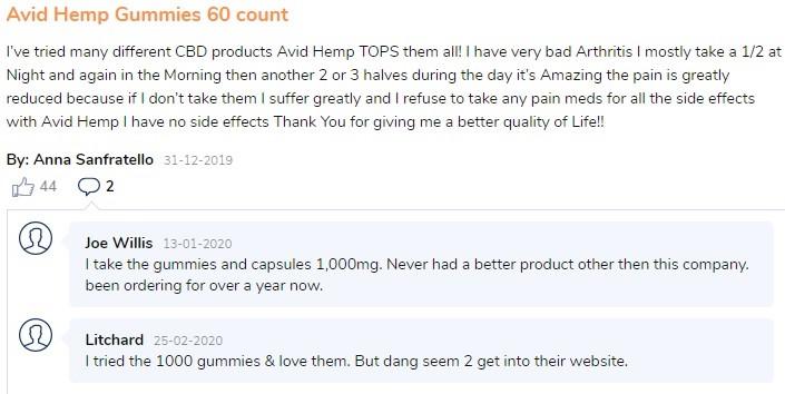 Avid Hemp Reviews 1
