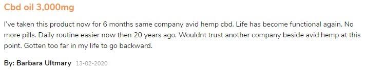 Avid Hemp Reviews 2