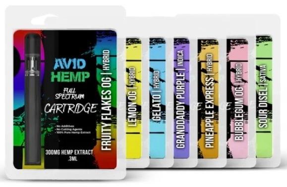 Avid Hemp Vaping Cartridges