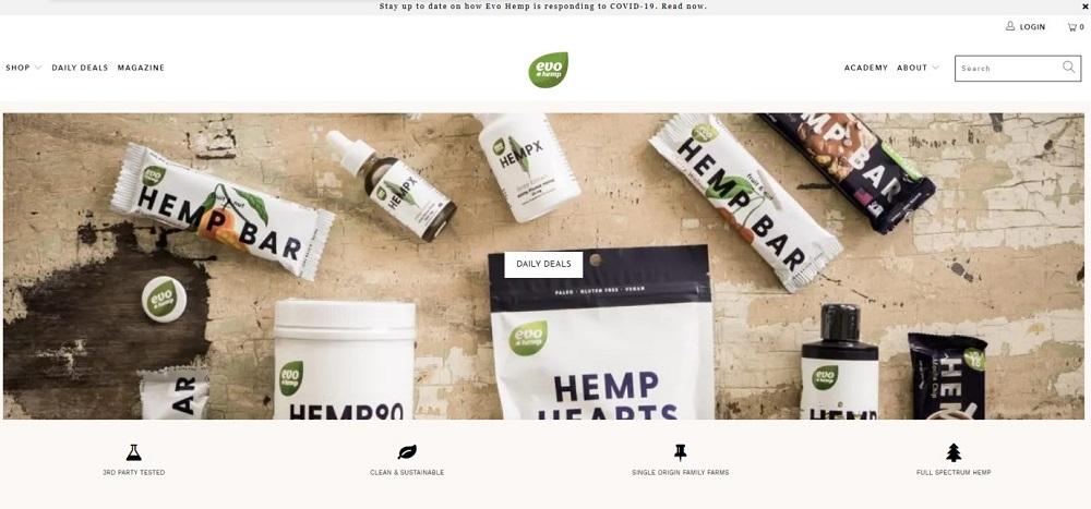 Evo Hemp Homepage