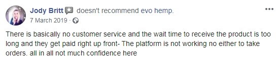 Evo Hemp User Review 1