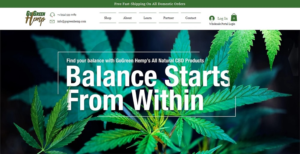 GoGreen Hemp Homepage