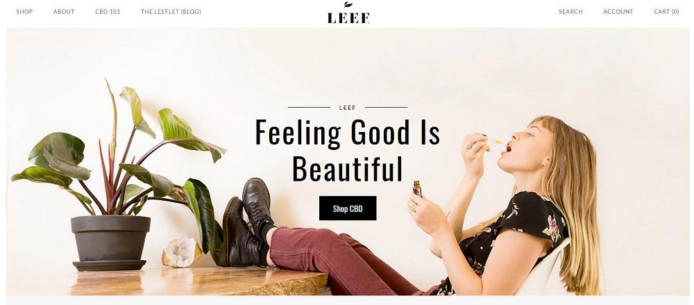 Leef Organics Homepage