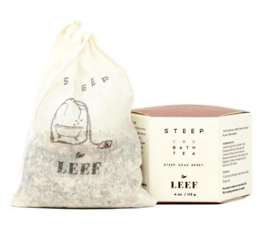 Leef Organics Steep CBD Bath Tea