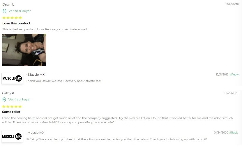 Muscle MX CBD Lotions reviews