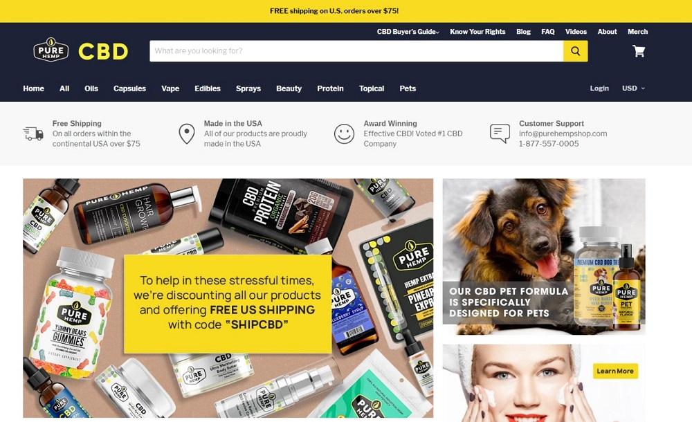 Pure Hemp Homepage
