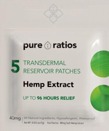 Pure Ratios CBD 96 Hour Transdermal Hemp Extract Patch