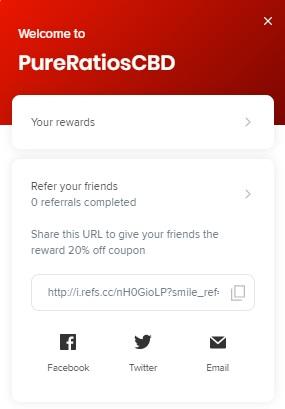 Pure Ratios CBD rewards program