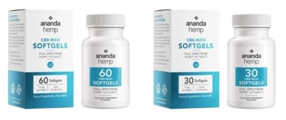 Ananda Hemp CBD Softgels 2