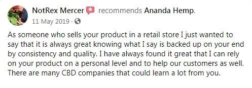 Ananda Hemp Customer Review 4