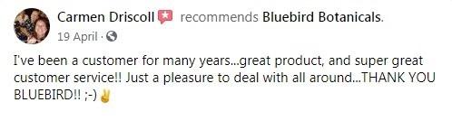 Bluebird Botanicals Customer Review 4