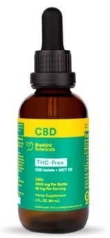 Bluebird Botanicals THC-Free CBD Oil