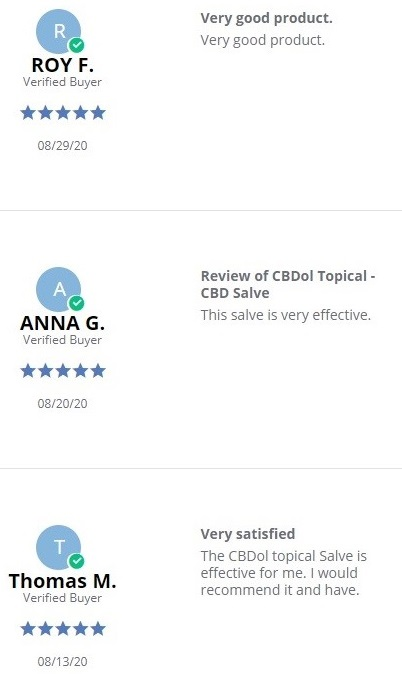 CBDistillery CBDistillery CBD Topicals Customer Reviews