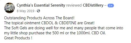 CBDistillery Customer Review 5