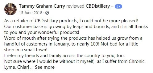 CBDistillery Customer Review 6