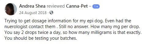 Canna Pet Customer Review