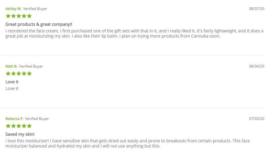 Cannuka Harmonizing Face Cream Customer Reviews