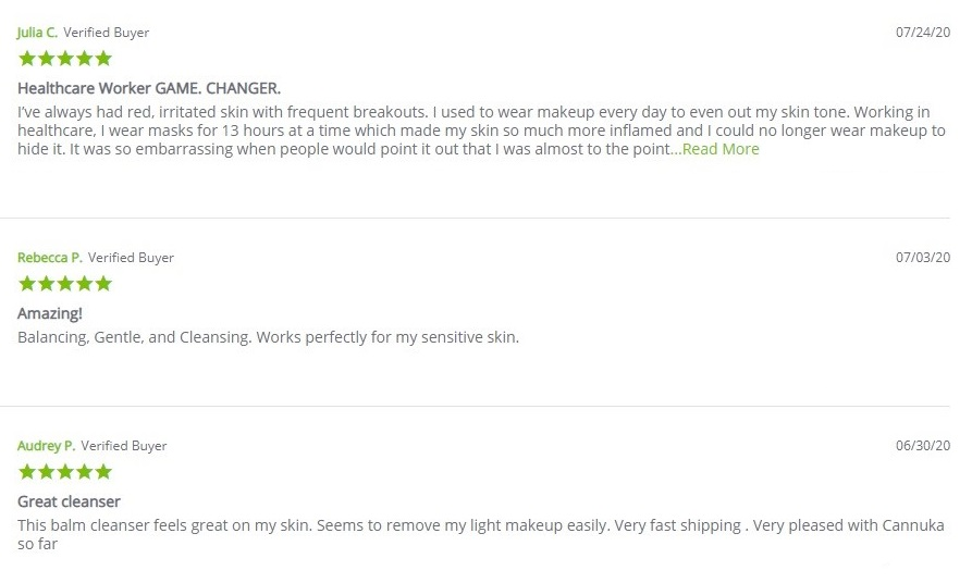 Cannuka Purifying Gel Balm Cleanser Customer Reviews