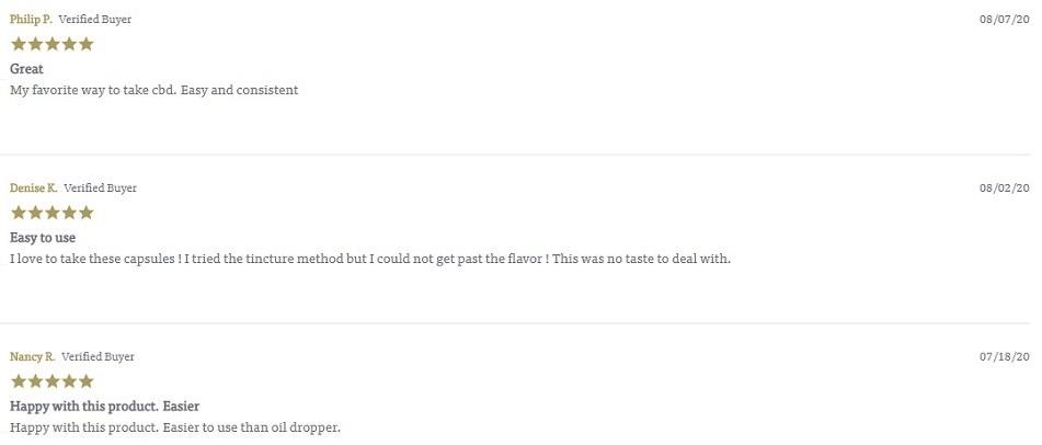 Charlottes Web CBD Capsules Customer Reviews