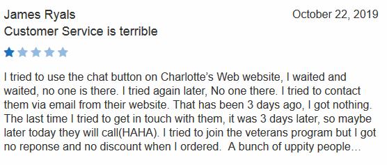 Charlottes Web CBD Customer Review 2