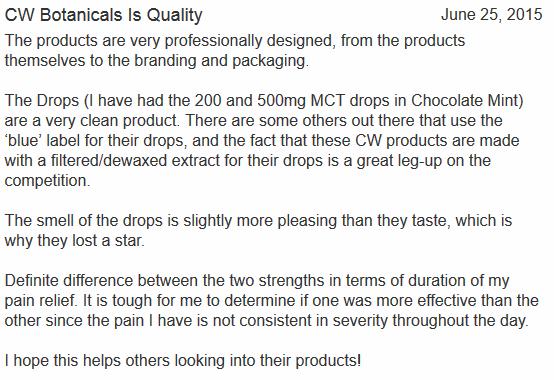 Charlottes Web CBD Customer Review 4