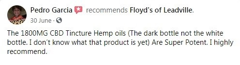 Floyds of Leadville Customer Review 2
