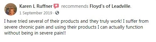 Floyds of Leadville Customer Review 3