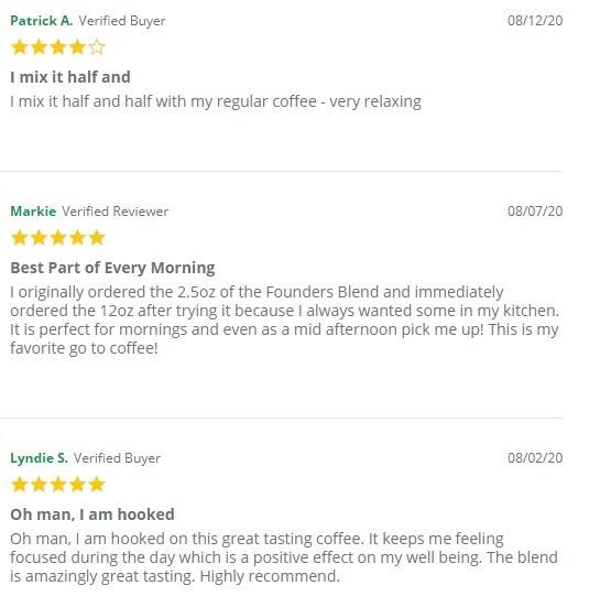 Green Roads CBD Coffee Customer Reviews