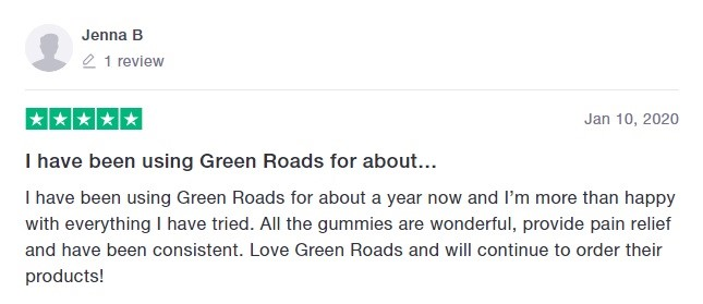 Green Roads Customer Review 2