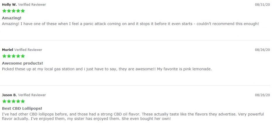 Hemp Bombs CBD Lolly Bombs Customer Reviews