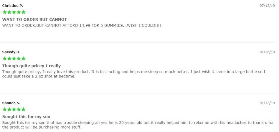 Hemp Bombs CBD Max Chill Shot Customer Reviews
