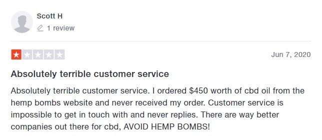 Hemp Bombs Customer Reviews