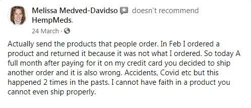 HempMeds Customer Review