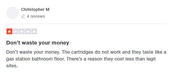 JustCBD Customer Review 2