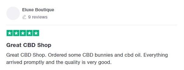 JustCBD Customer Review 6
