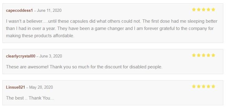Lazarus Naturals CBD Capsules Customer Reviews