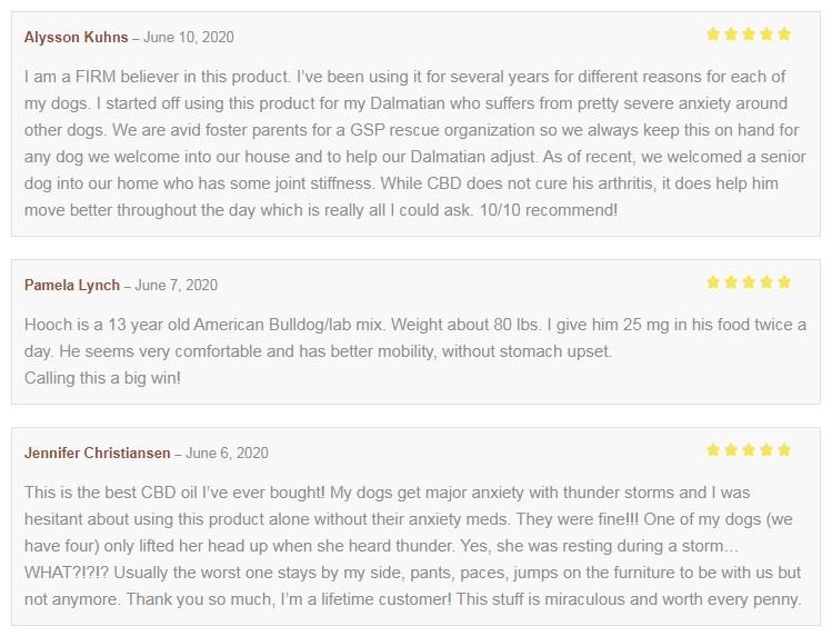 Lazarus Naturals CBD for Pets Customer Reviews