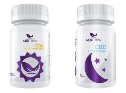 Medterra CBD Capsules Good Morning and Melatonin