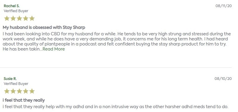 Plant People CBD Capsules Customer Reviews