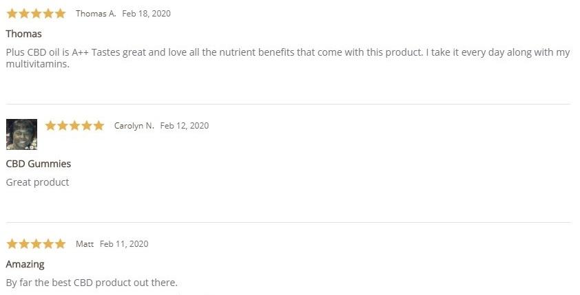 Plus CBD Oil CBD Gummies Customer Reviews