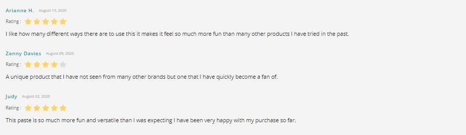 Provacan CBD Paste Customer Reviews