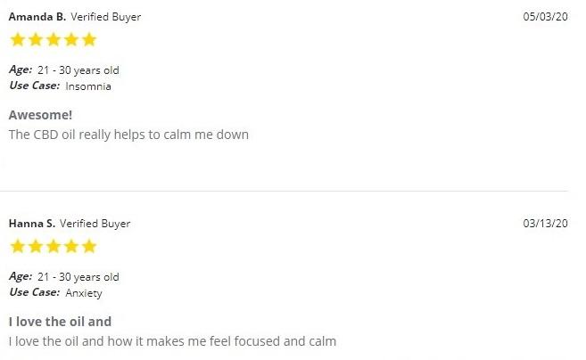 Pure Relief Full Spectrum CBD Oil Customer Reviews